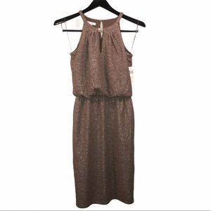 NWT LONDON TIMES TAUPE TAN GOLD SHIMMER PARTY 4 SM